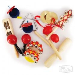 Set de instrumentos de percusión que sirven para favorecer habilidades musicales. Permite desarrollar la percepción auditiva med