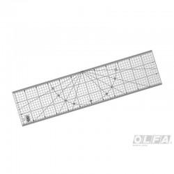 Regla Acrílica Transparente de 15 x 60cm.