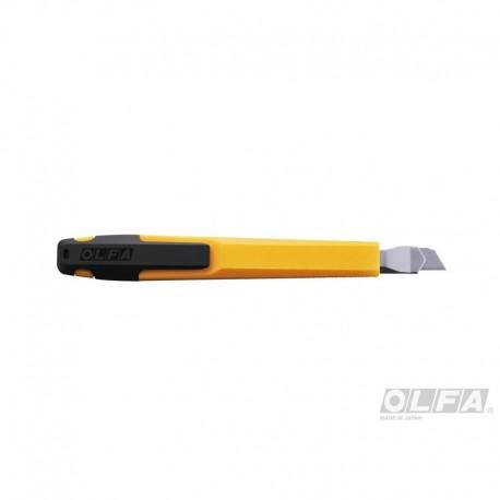 Cuchillo Mediano de 9mm. con Seguro Automático y Clip.