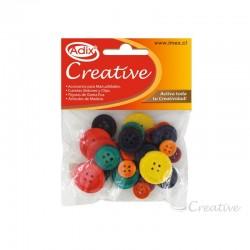 Botones de Madera Colores Surtidos