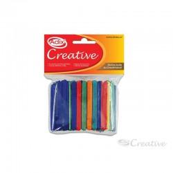 Palitos de Madera Colores Surtidos 7 cm.